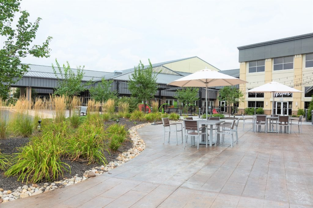 commercial landscape and hardscape
